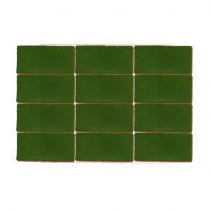 Plaqueta Cerámica Enmallada Paralelo Verde
